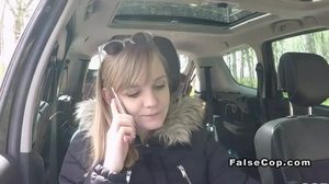Sucking, Car, Blowjob, Outdoor, Blonde, High definition, Police