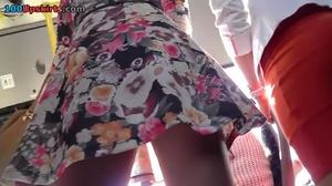 Babe, Amateurs, Outdoor, Hidden, Ass, Skirt, Upskirt
