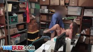 Fucking, At work, Burglar, Office, Hairless, Bent over, Shop