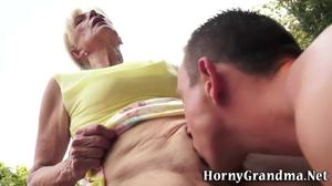 Fucking, Pussy, Cunilingus, Cumshot, Grandmother, Young, Doggystyle