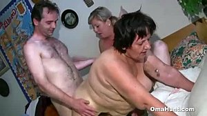 Group, Shower, Masturbation, Grandmother, 3 some, Granny, Bathing