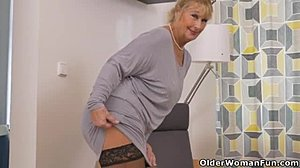 Granny, Striptease, European, Clothes ripped, Milf, Undressing, Orgasm