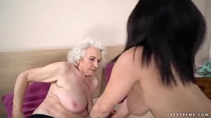 Girl on girl, Pussy, Mature, Wet, Mommy, Grandmother, Young