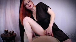 Female ejaculation, Redhead, Femdom, Pov, Mistress, Mature, Ass