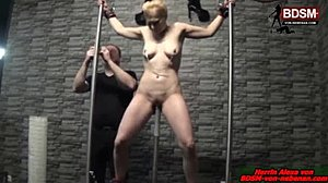 Homemade, Bound, Slave, German, Bdsm, Blonde, Garage