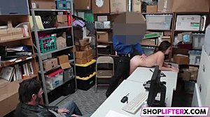 Cock, Shop, Office, Burglar, At work, Monster cock, Punished