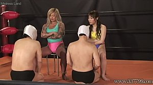 High definition, Asian, Domination, Japanese, Femdom, Fight, Gym