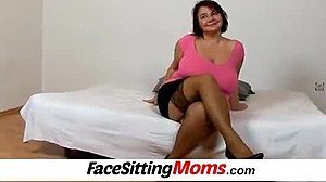 Humiliation, Mommy, Face sitting, Young, Grandmother, Mature, Lick
