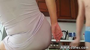 Homemade, Amateurs, Mature, Russian, Mommy, Young, Mom and boy